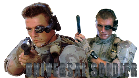jean claude van damme and Dolph Lundgren in Universal Soldier